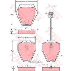 Комплект тормозных колодок, дисковый тормоз (TRW/Lucas) GDB1381