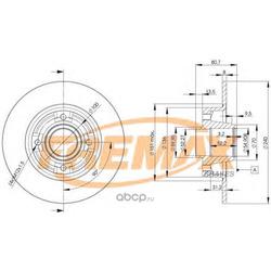 Тормозной диск (FREMAX) BD7823