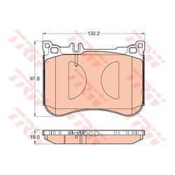 Комплект тормозных колодок, дисковый тормоз (TRW/Lucas) GDB2019
