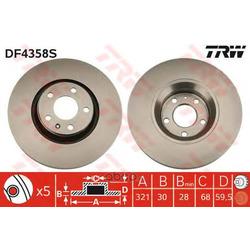 Диск тормозной вентилируемый (TRW/Lucas) DF4358S