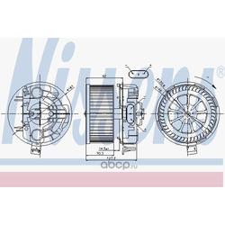 Вентилятор салона (Nissens) 87043