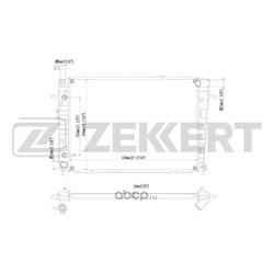 Радиатор охл. дв. Hyundai Tucson I 2.0/2.7 04- Kia Sportage II 2.0/2.7 04- (Zekkert) MK1191