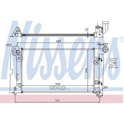 Радиатор охлаждения двигателя (Nissens) 646321