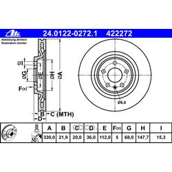 Тормозной диск (Ate) 24012202721