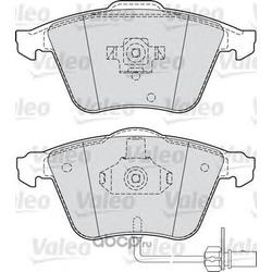 Комплект тормозных колодок, дисковый тормоз (Valeo) 598750