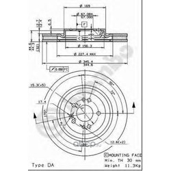 Диск тормозной вентилируемый (Brembo) 09760611