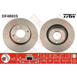 Тормозной диск (TRW/Lucas) DF4865S