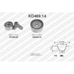 Комплект ремня ГРМ (NTN-SNR) KD46914