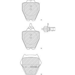 Комплект тормозных колодок, дисковый тормоз (Ferodo) FDB1709