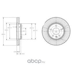 Тормозной диск (Delphi) BG4092