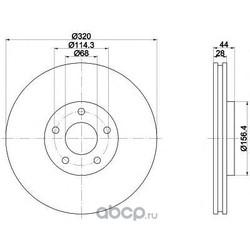 Тормозной диск (Textar) 92222003