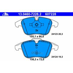Комплект тормозных колодок, дисковый тормоз (Ate) 13046072282