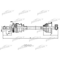 Полуось левая (PATRON) PDS1601