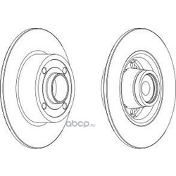 Тормозной диск (Ferodo) DDF15711