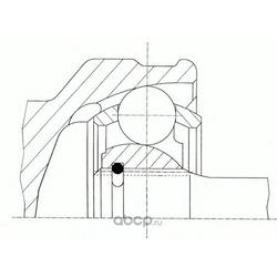 """Шрус внешний с кольцом """"ABS (GKN (Loebro)) 304693"""