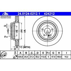Диск тормозной вентилируемый (Ate) 24012402121
