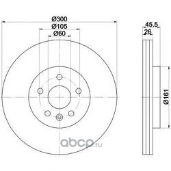 Тормозной диск (Mintex) MDC2394