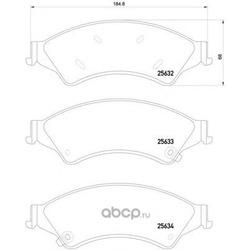 Комплект тормозных колодок (Mintex) MDB3265