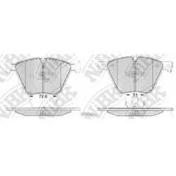 Колодки тормозные дисковые (NiBK) PN0494
