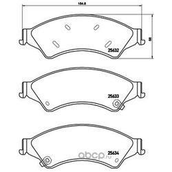 Колодки тормозные дисковые, комплект (Brembo) P24153