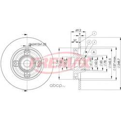 Тормозной диск (FREMAX) BD4745