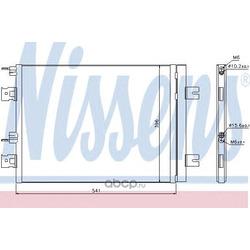 Радиатор кондиционера (Nissens) 940262