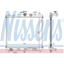 Радиатор охлаждения (Nissens) 62902A