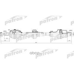 Полуось передняя правая 23x755x49x23 DACIA: LOGAN 04-, LOGAN MCV 07- (PATRON) PDS0220