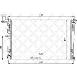 Радиатор (Stellox) 1025394SX