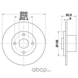 Тормозной диск (Mintex) MDC1762