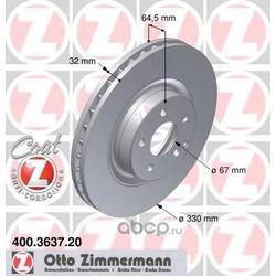 Тормозной диск (Zimmermann) 400363720