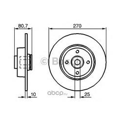 Тормозной диск (Bosch) 0986479274