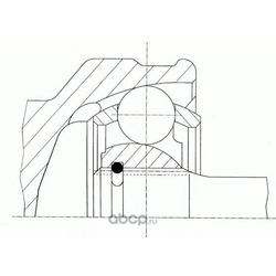 Шарнирный комплект, приводной вал (GKN (Loebro)) 305003
