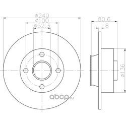 Тормозной диск (Textar) 92154403