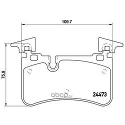Комплект тормозных колодок, дисковый тормоз (Brembo) P50113