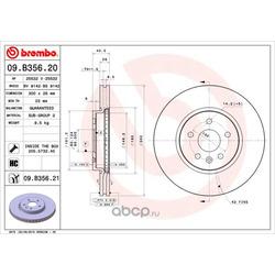 Тормозной диск (Brembo) 09B35621