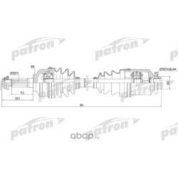 Полуось правая 28x567x56 KIA SORENTO [FY] [F1] [BL] 02- (PATRON) PDS0301