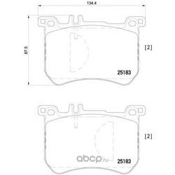 Комплект тормозных колодок (Brembo) P50111