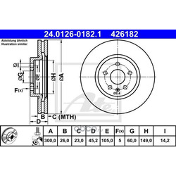 Тормозной диск (Ate) 24012601821