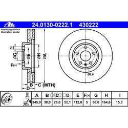 Тормозной диск (Ate) 24013002221