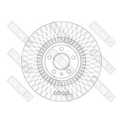 Тормозной диск (Girling) 6062161