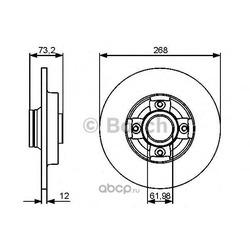 Тормозной диск (Bosch) 0986479387