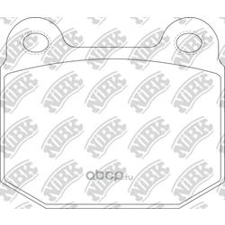 Колодки тормозные дисковые спорт (NiBK) PN0226S