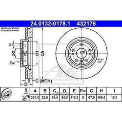 Тормозной диск (Ate) 24013201781