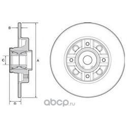 Диск тормозной задний (Delphi) BG9116RS