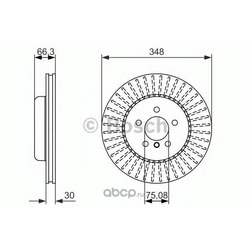Тормозной диск (Bosch) 0986479772