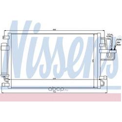 Радиатор кондиционера (Nissens) 94801