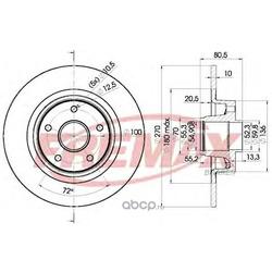 Тормозной диск (FREMAX) BD7898