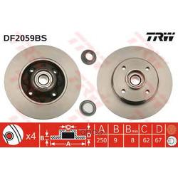 Тормозной диск (TRW/Lucas) DF2059BS