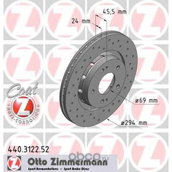 Тормозной диск (Zimmermann) 440312252